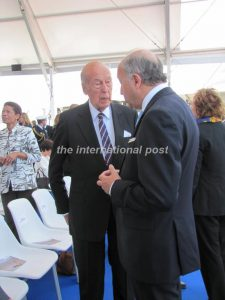 President Giscard d'Estaing with Laurent Fabius