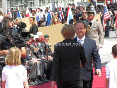 French and German friendship exactly 70 years after D-Day