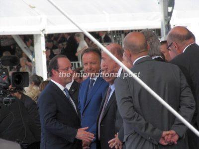 François Hollande and Valéry Giscard d'Estaing