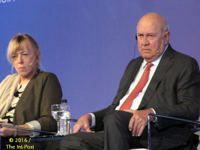 Jody Williams, Frederik de Klerk