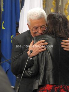 Mahmoud Abbas and Anne Hidalgo