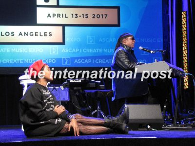 Janelle Monáe and Stevie Wonder in an improvised duo