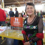 Dolores Huerta at the Farmworkers Justice 2019 Los Angeles Awards desk